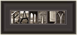 Alphabet Photography Framed Word Family