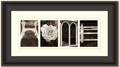 Alphabet Photography Framed Word Home