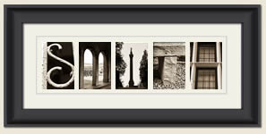 Alphabet Photography Framed Word Smith