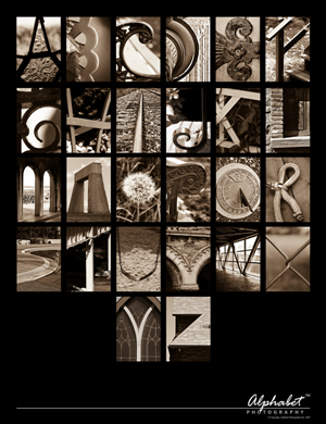 Alphabet Photography Poster