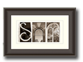 Products - Customed Framed Alphabet Photography Art