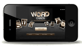 Word Chaos on the iPhone challenges both sides of the brain.